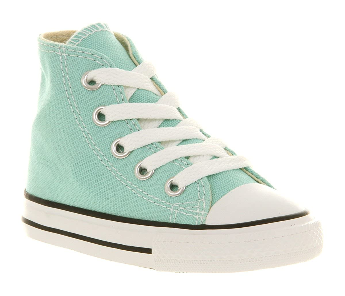 70010c34be86 Converse Small Star Hi Canvas Kids 12+ Months Beach Glass Blue - 4 Infant   Amazon.co.uk  Shoes   Bags