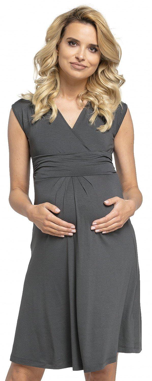 Happy Mama Donna Abito Prémaman per L'allattamento Vestito Estivo Elegante 256p model_256