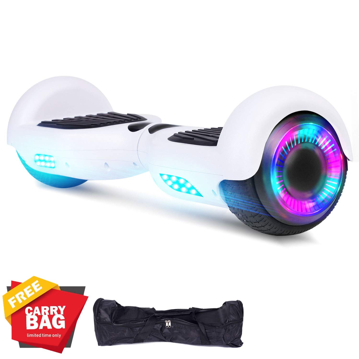 SWEETBUY Hoverboards UL Certified 6.5 Smart Scooter Two-Wheel self Balancing Electric Scooter Light Free Bag and Charger Included