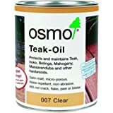 OSMO Clear Oil Interior exterior Decking or vertical surfaces finishes Clear .75L