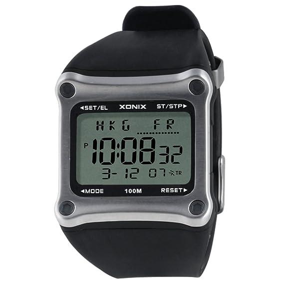 Reloj pantalla digital,Reloj cuadrado electrónico hombres impermeable multiusos buceo natación reloj hombre led luminoso