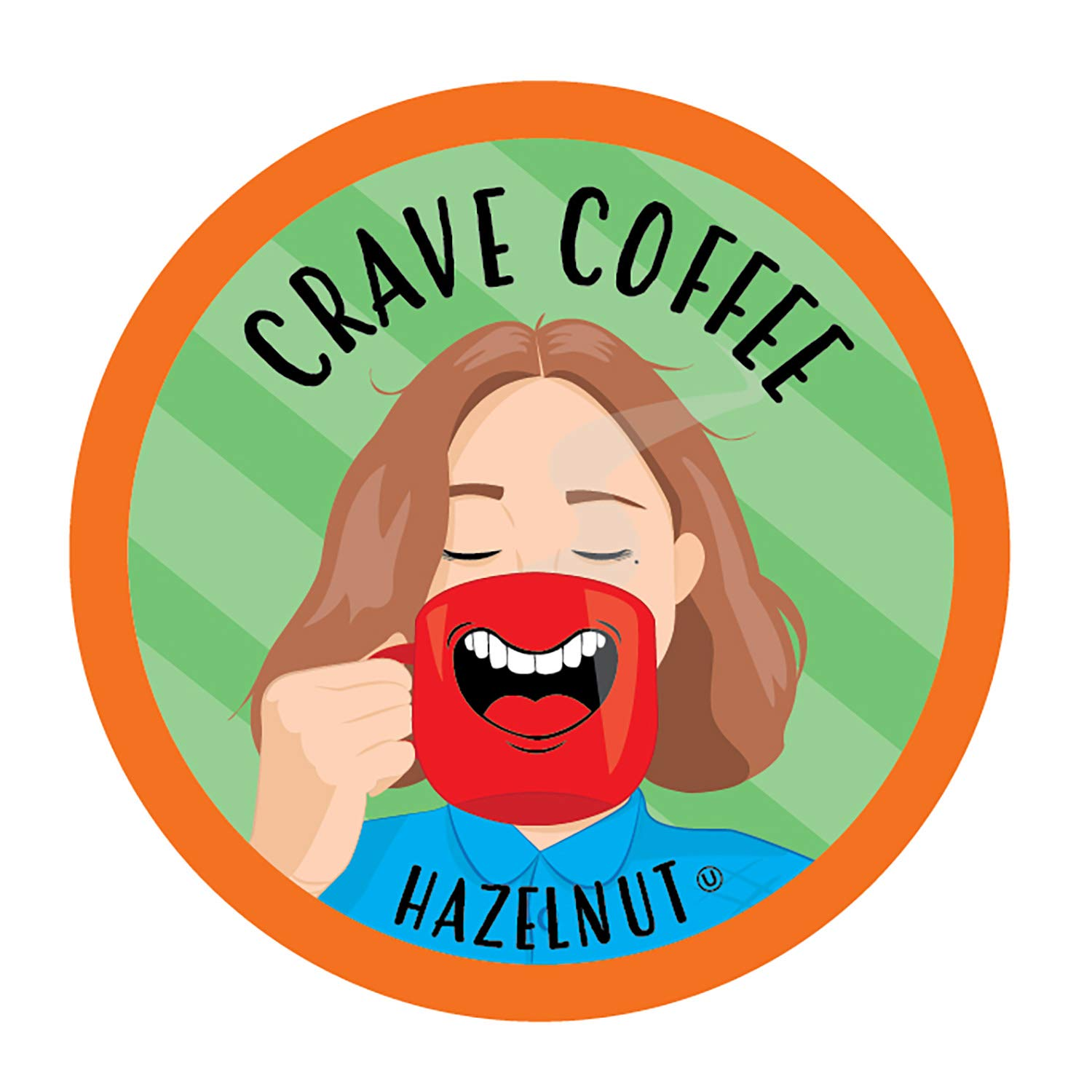 Crave Flavored Coffee Pods, Compatible with 2.0 K-Cup Brewers, Hazelnut, 40 Count