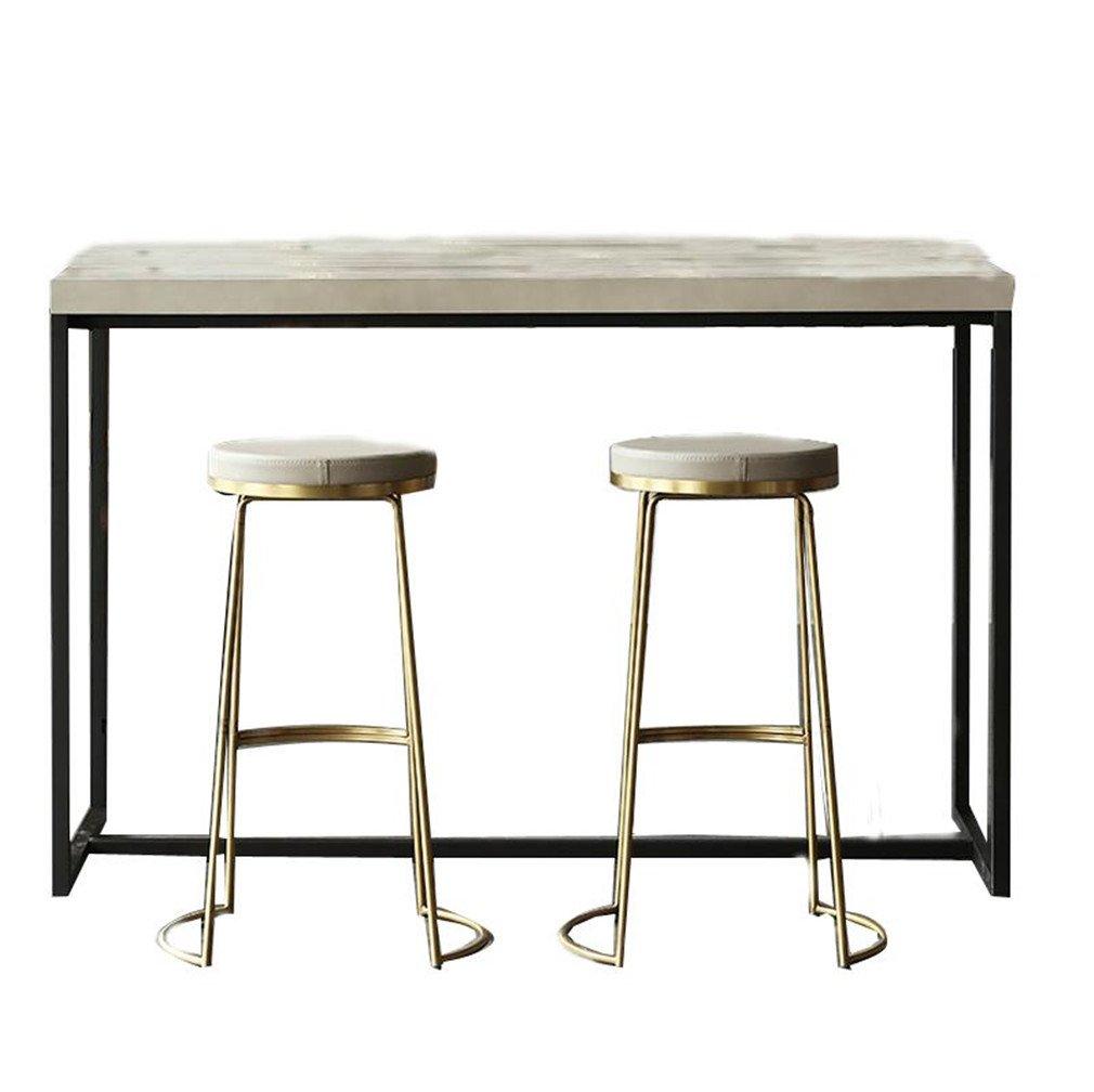 スツールレザーセットアイロン快適なバーテーブル椅子パーソナライズクリエイティブシンプルな高いラウンドメタルソリッドレストラン待合椅子フロントデスク金,Double B07CG8B5XC double double