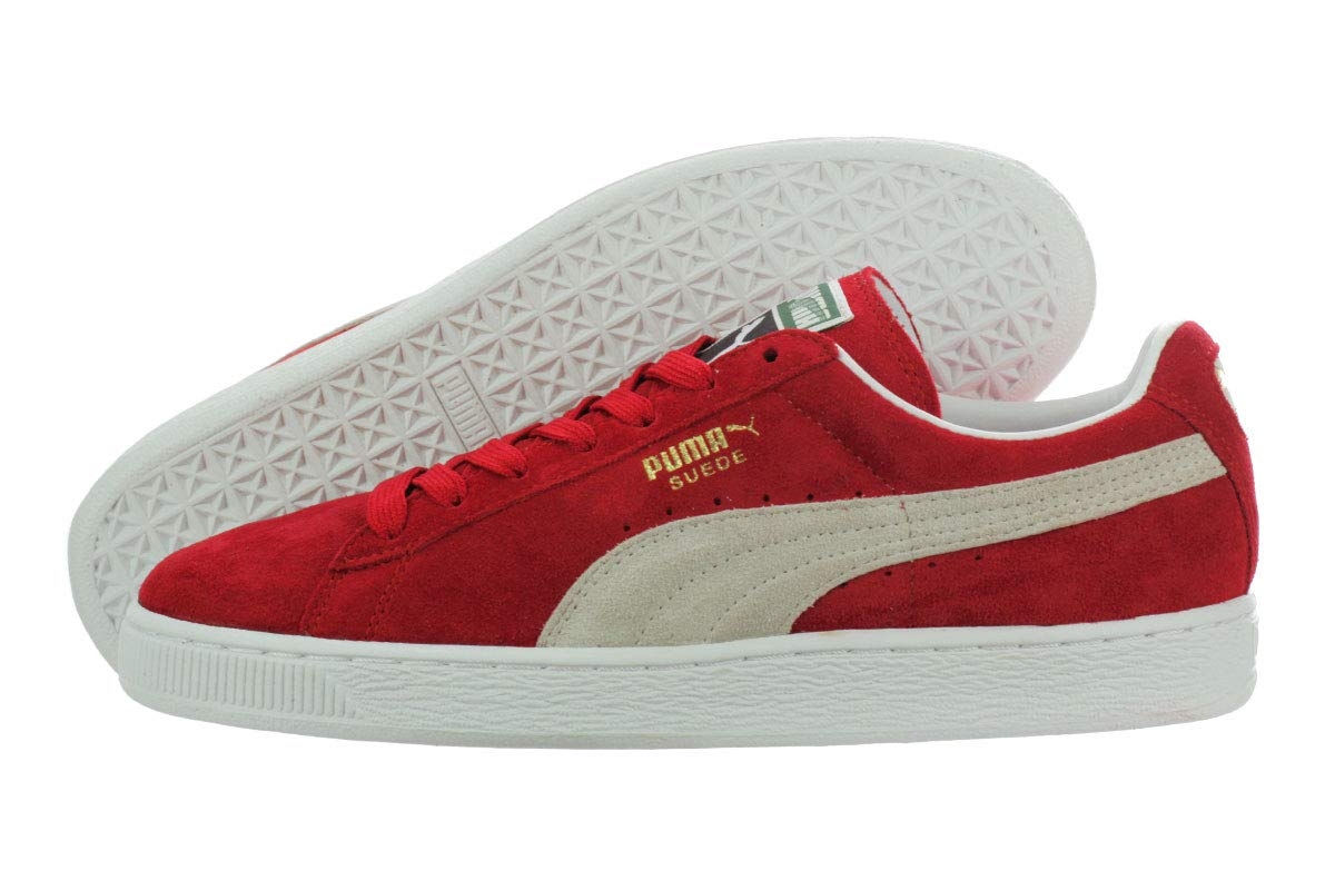 new concept aaf80 70678 PUMA Suede Classic Sneaker,High Risk Red/White,7.5 M US Men's