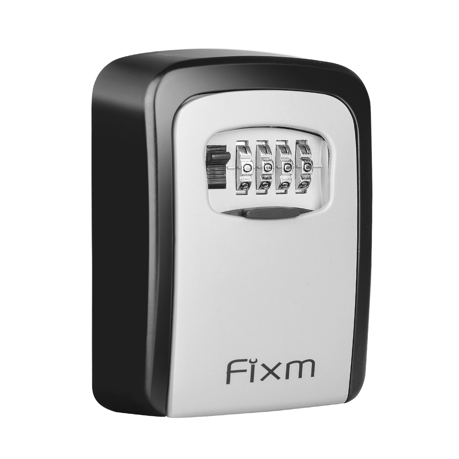 Fixm Key Lock Box,Wall Mounted 4-Digit Resettable Key Safe Storage Box Holds 5 Keys, Indoor/Outdoor