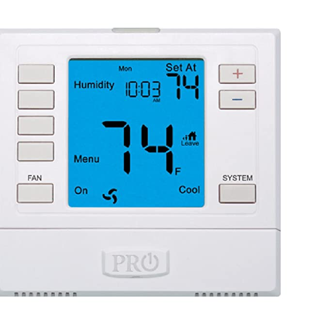 PRO1 IAQ T755H Humidity Touchscreen 3 Hot/2 Cold 7 Day Thermostat ...