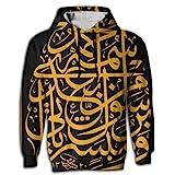 Muslim Shahada Islam Novelty Fashion 3D Graphic Hoodie Sweatshirt For Men Hooded
