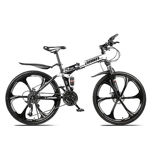 W&TT Plegable Bicicleta de montaña 24/26 Pulgadas Adultos Off-Road ...