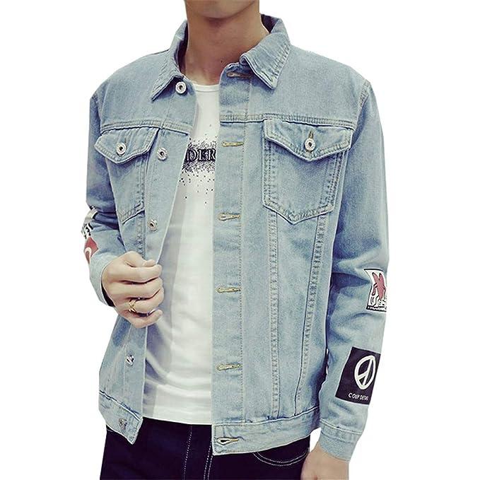 BHFLSVD Chaqueta Casual De Calle para Hombre De OtoñO Coreano Hip Hop Denim Jacket Casual Street Jacket: Amazon.es: Ropa y accesorios