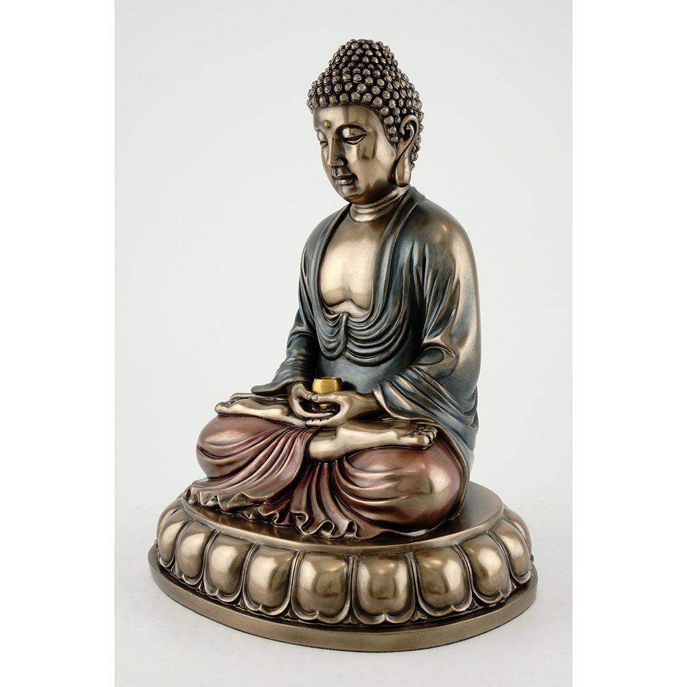 10.5-inch Sitting Shakyamuni Buddha Supreme Buddha Real Bronze Powder Cast Statue Figurine