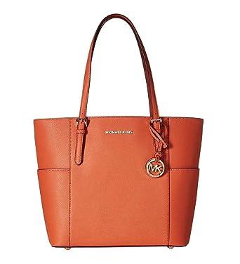 0650544978953 Amazon.com  MICHAEL Michael Kors Jet Set Travel Large Tote (Tangerine)   Clothing