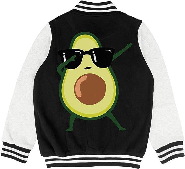 PoPBelle Kids Cute Avocado Avocardio Teen Boys Varsity Jacket for Girls Boys Baby Cozy Coats