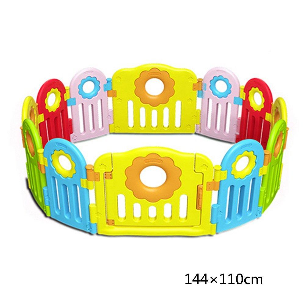 CHUNLAN ベッドガードレール 赤ちゃんフェンスゲームフェンス環境保護材料子供安全クロールマットフェンスガーデンフェンス (サイズ さいず : 144 * 110cm) 144*110cm  B07G6YWJ56