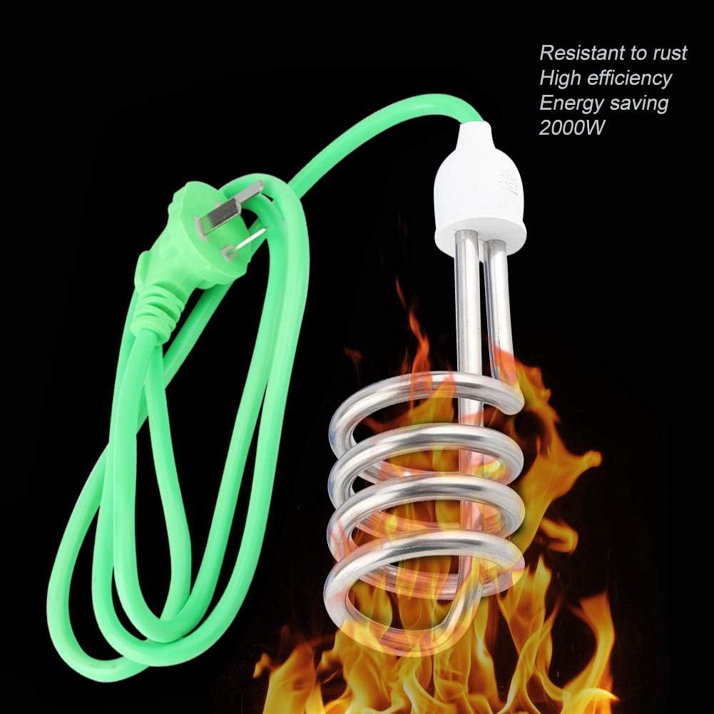 Redxiao Tauchsieder 220V 2000W Edelstahl Warmwasserbereitung Tauchelement Heizkessel Home Travel AU Plug