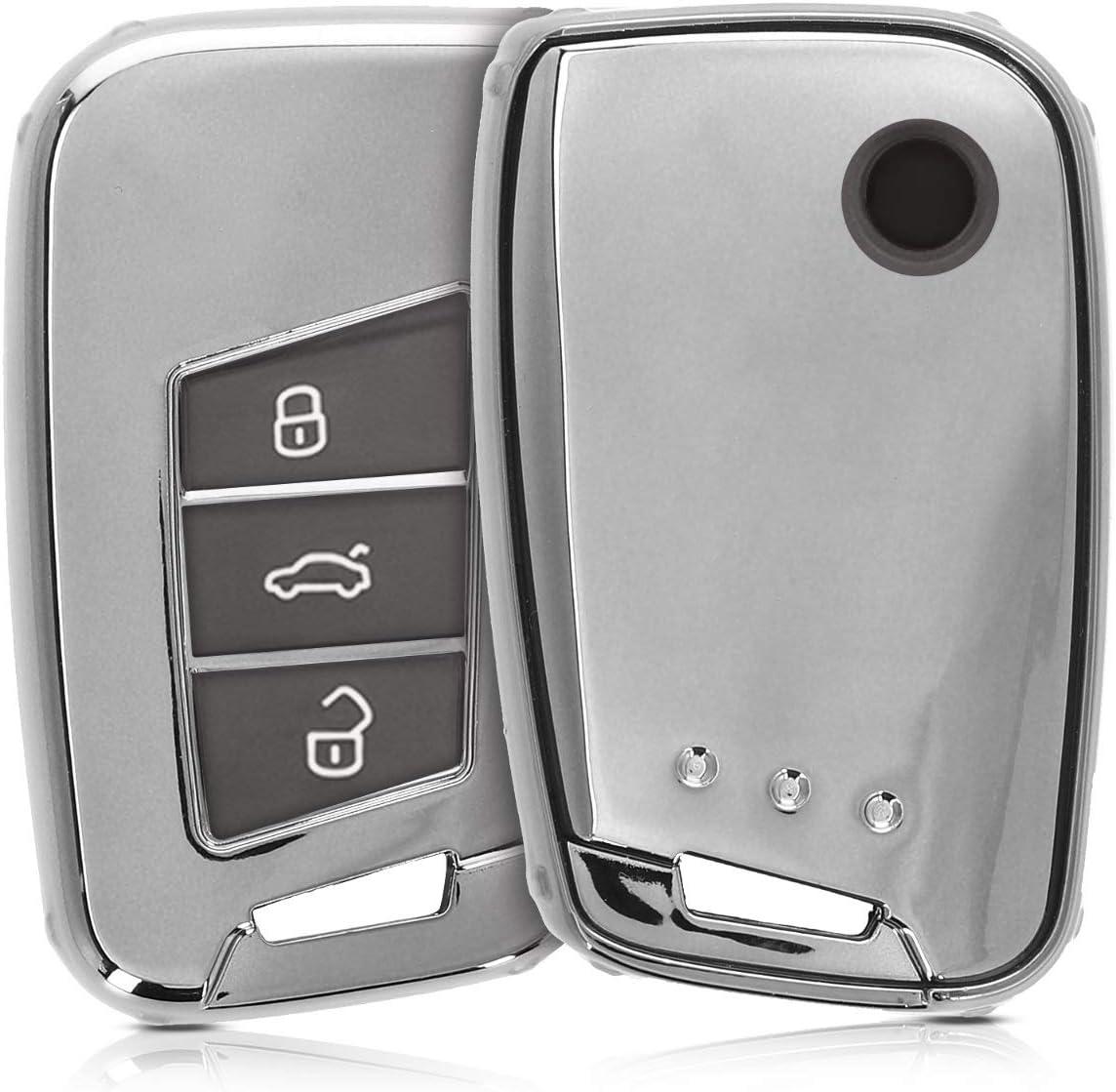 Kwmobile Autoschlüssel Hülle Kompatibel Mit Vw 3 Tasten Elektronik