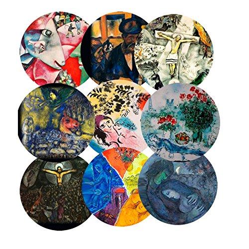 "Price comparison product image Marc Chagall 2.25"" Fridge Magnets"