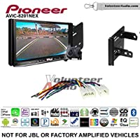 Volunteer Audio Pioneer AVIC-8201NEX Double Din Radio Install Kit with GPS Navigation Apple CarPlay Fits 2012-2014 Non Amplified Toyota Yaris