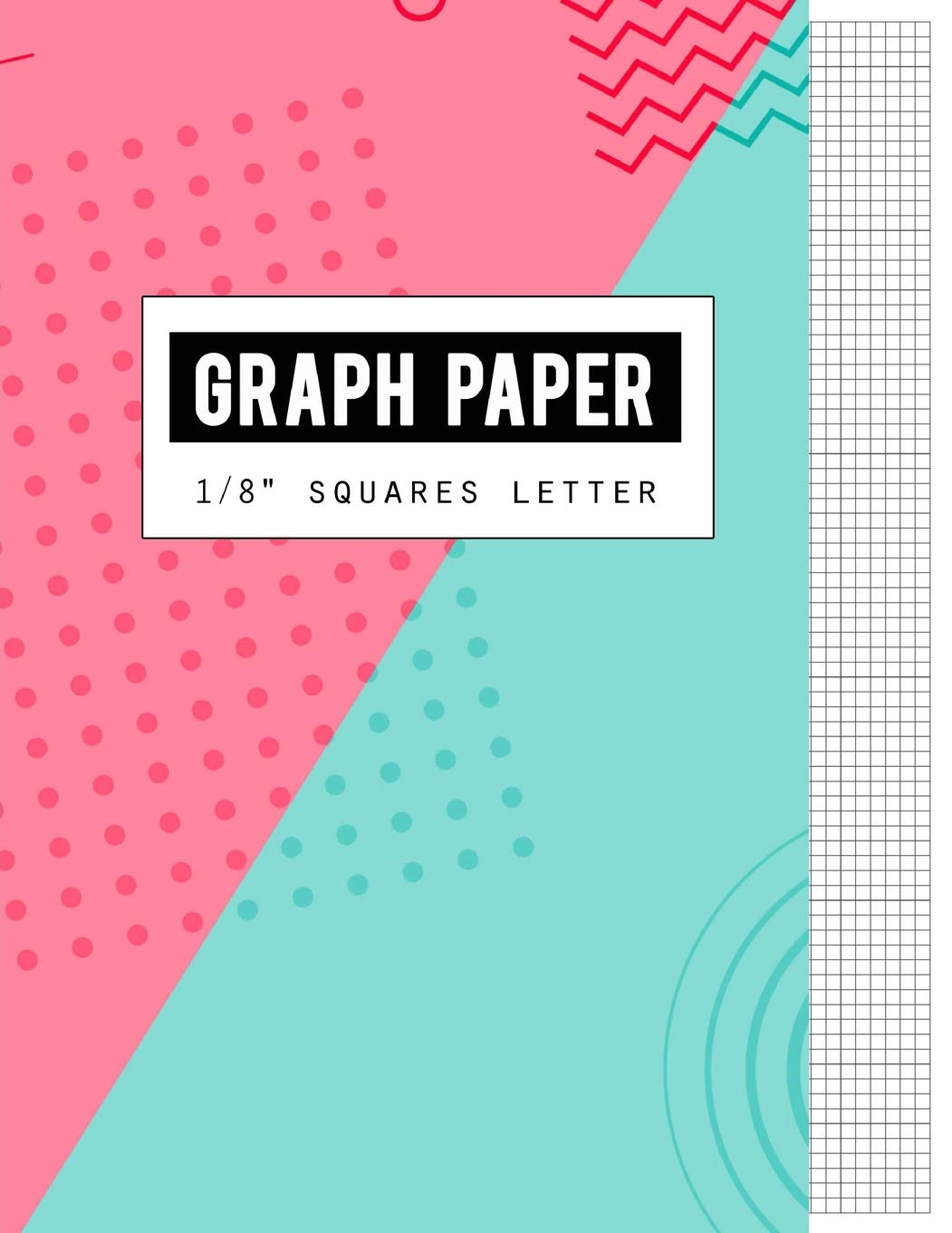 graph paper 1 8 squares black lines law ruled letter writing