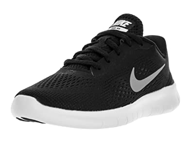 NIKE Boys Free RN (PS) Pre-School Shoe BlackMetallic Silver