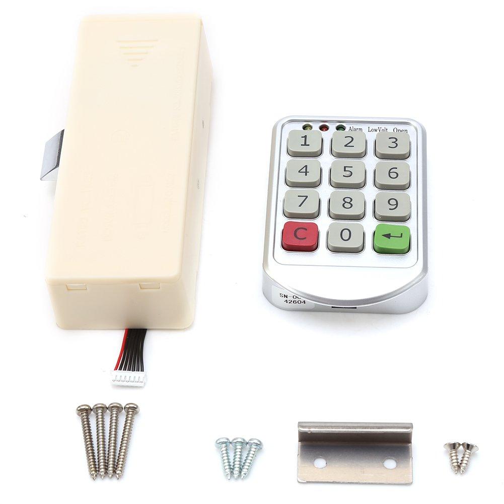 セキュリティコードパスワードロックデジタル電子キーパッド番号のコードロックキャビネットドア引き出しキャビネットドア B077BDYZZY
