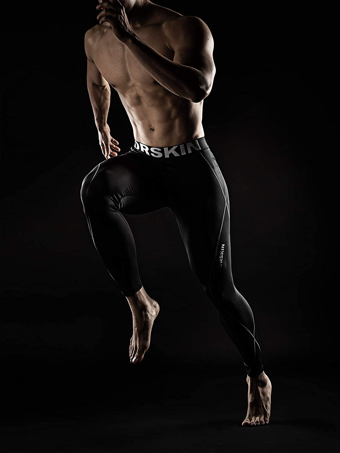 DRSKIN Men/'s Compression Warm Dry Cool Sports Tights Pants Baselayer Running Leggings Yoga
