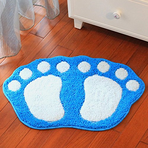 HUAHOO Big Feet Bath Toilet Mat Area Rugs Carpet Doormat