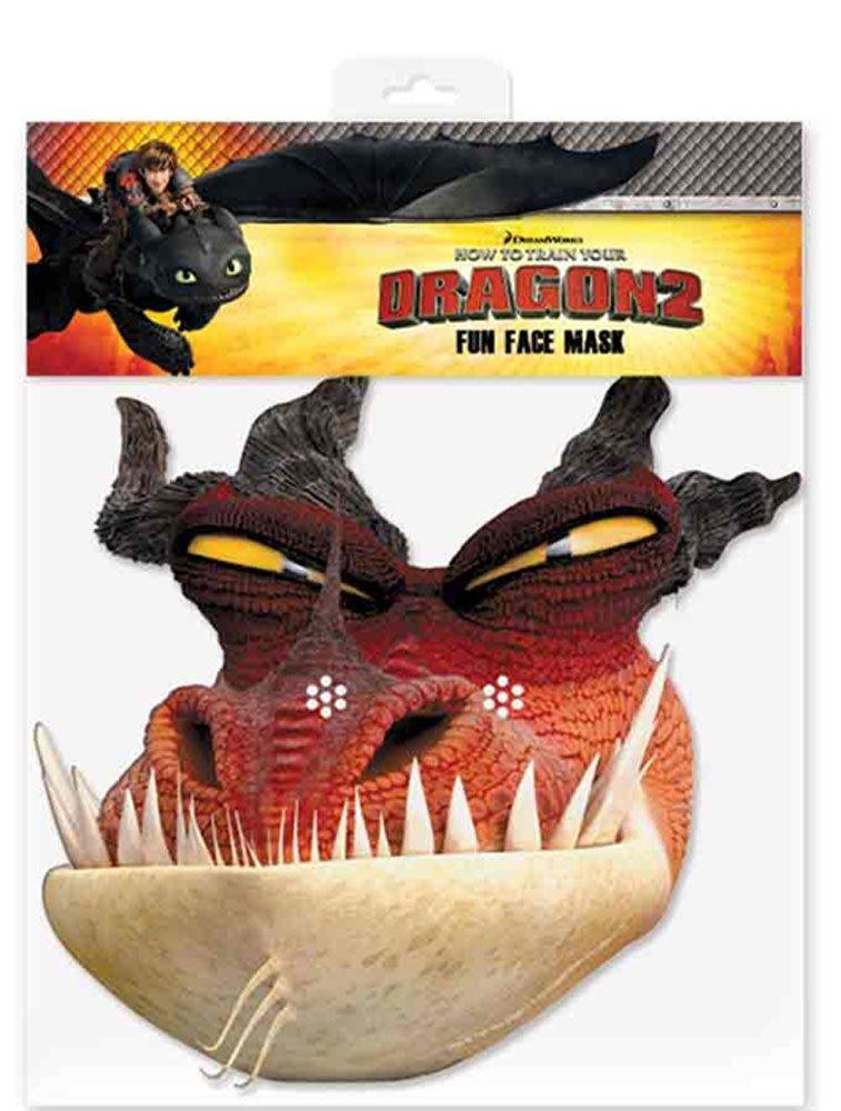 Monstrous Nightmare - How to Train Your Dragon Maske Papp Maske, aus hochwertigem Glanzkarton mit Augenlöchern, Gummiband - Grösse ca. 30x20 cm empireposter