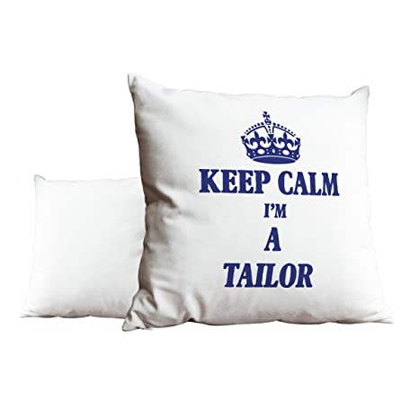 Azul KEEP CALM I m un sastre blanco Scatter pillow 2445 ...