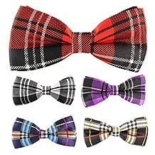 Multicolor Men Boy Pet Cat Dog Tuxedo Adjustable Neck Bowtie Bow Tie Collar 5pcs Mixed Lot Set #5
