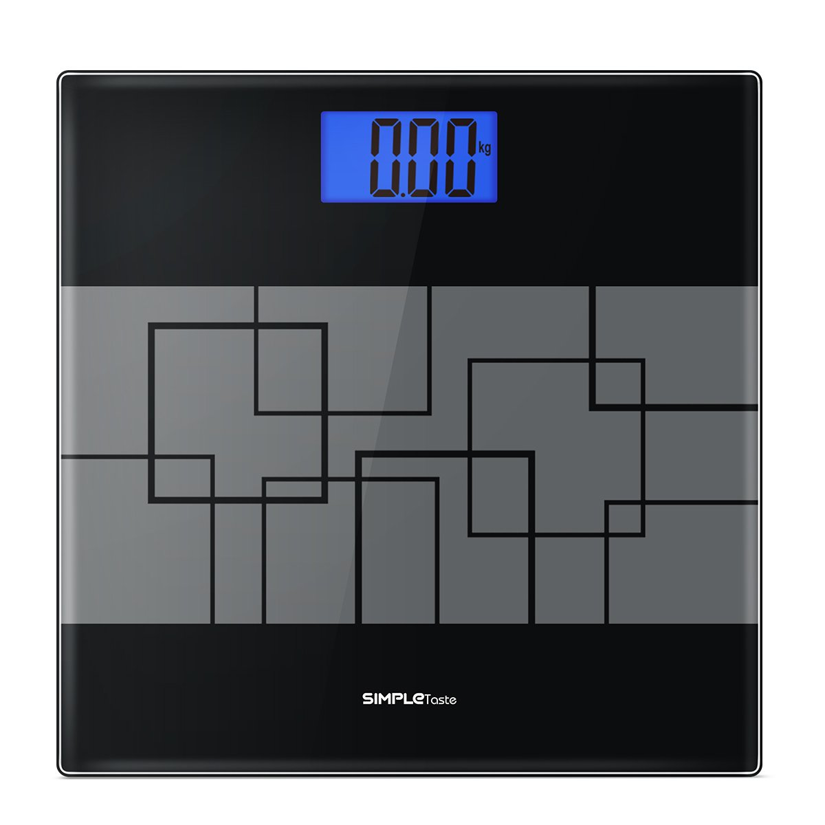SimpleTaste Precision Digital Body Weight Scale Bathroom Scale with Step-on Technology and Lighted Display, 400lb /180kg by SimpleTaste