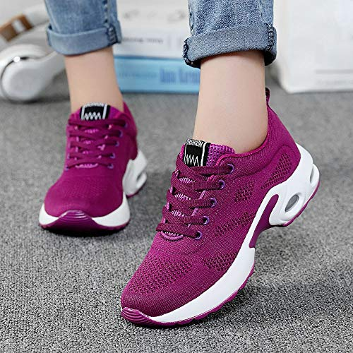 Calzado Running Deporte Con Gimnasia Deportivas Mujer Cojines Para Aire Zapatillas 35 Rosa Estudiante Volar Zapatos Tejidos 41 5887 Sneakers Logobeing De Net naxYC0