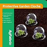 "Agfabric Plastic Bell Cloche, Protective Garden Cloche with Pins, Summer Shading,Insect Barrier,Plant Cover, 5-pack (Dia10""xH7.5"")"