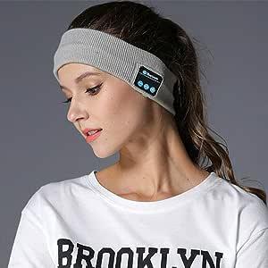 Sleep Headset Bluetooth Wireless Stereo Earphone Headphone Sports Headband w/Mic | GREY