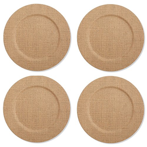 Mud Pie Burlap Covered Charger