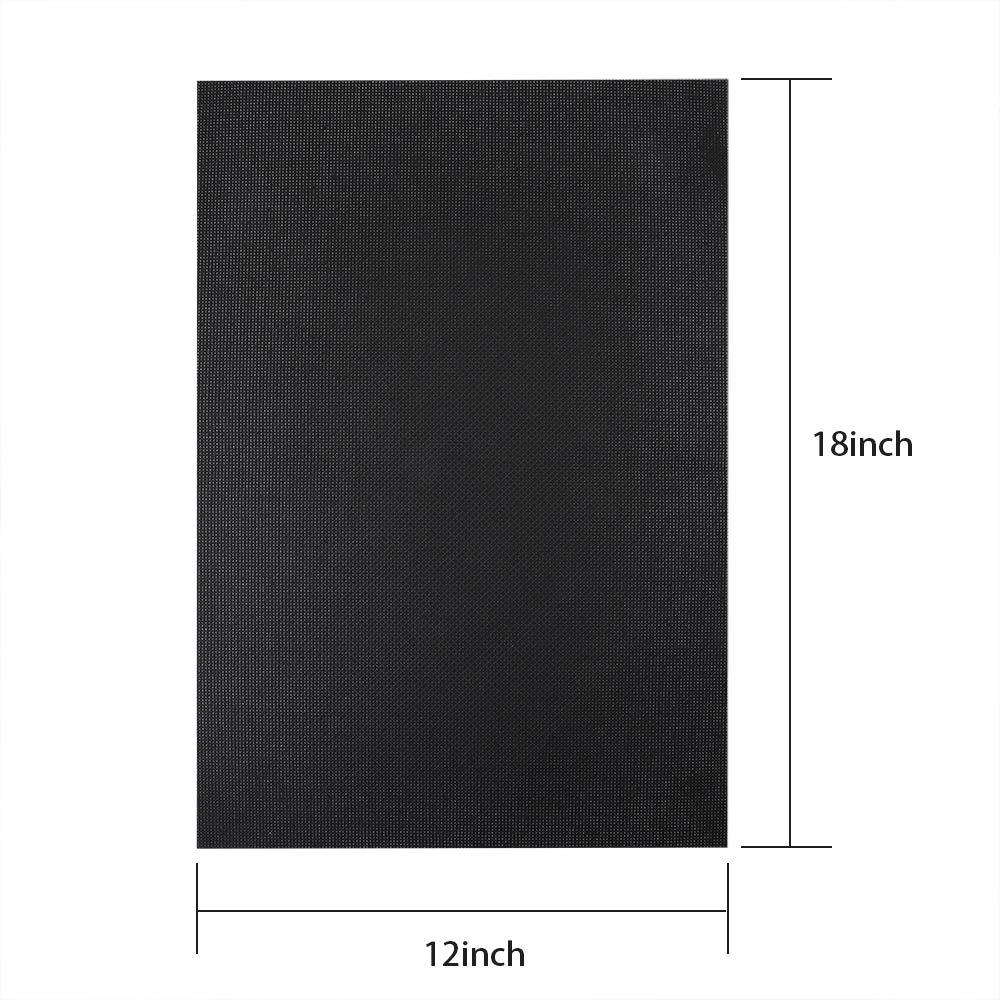 14 Count Black 12 by 18-Inch Caydo 2 Pieces Classic Reserve Aida Cloth Cross Stitch Cloth