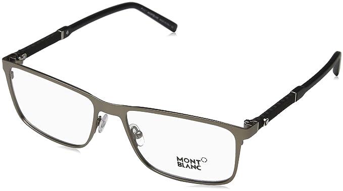 94380d00f7d Image Unavailable. Image not available for. Color  MONTBLANC Eyeglasses  MB0674 013 Matte Dark Ruthenium