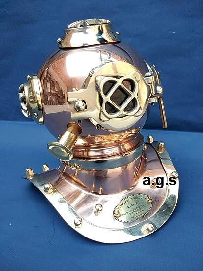 Copper /& Brass Mini Divers Diving Helmet Antique Deep sea Scuba Diving Equipment