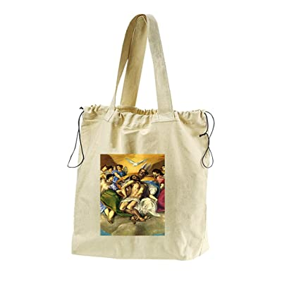 By The Grace Of God (Greco) Canvas Drawstring Beach Tote Bag best