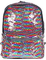 HeySun Reversible Sequins School Backpack for Girl/Boys Lightweight Travel Backpack