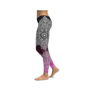 e76680552767b5 Yoga Pants Women Unique Fitness Leggings Workout Sports Running Leggings  Sexy,Black,S