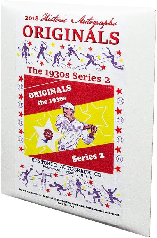 2018 Historic Autographs Originals The 1930s Series 2 Baseball Hobby Box