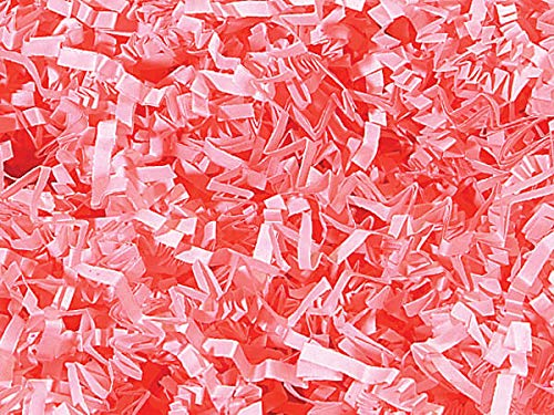 Pink Crinkle CutTM Paper Shred 10 lb Box ~ Spring-fill® Shred - WRAPS-ZF10PI
