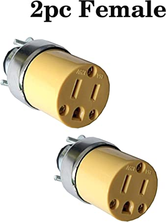 2pc Female Extension Cord Ends Replacement Electrical Plug End 15amp 125v Female Plug End Replacement Extension Cord Ends Female Replacement Electrical Cord End 3 Prong Female Electrical Plug End Amazon Com
