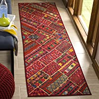 Safavieh Aztec Collection AZT202B Coral Pink and Multicolored Runner (23 x 8)