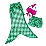 Pinbo® Little Girls 3 Pcs Princess Mermaid Tail Bikini Set Swimwear Swimsuit (150(7-8T))