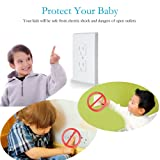 Baby Safety Self-Closing Electrical Outlet Covers | Alternative To Wall Socket Plugs Plate for Child Proofing | Automatic Sliding Guards Kit | House & Kitchen Protection Kit | BPA Free - 6 Pack, White