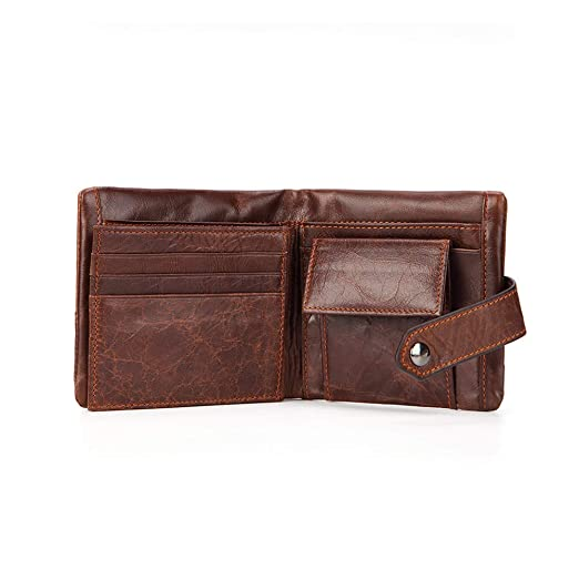 Amazon.com: GAOQQ Mens Wallet - Soft Leather Design Purse with Coin Pocket(Coffee,Black),Black: Garden & Outdoor