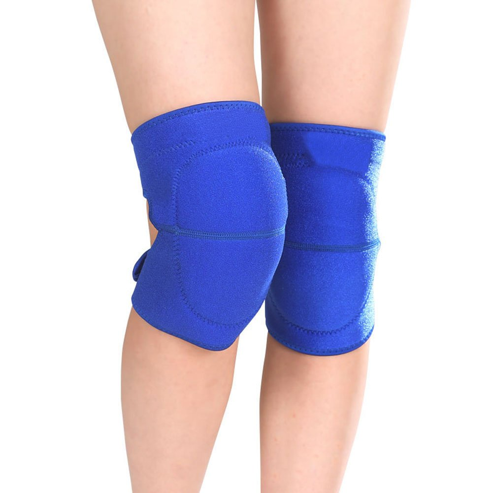 1 Pair Adult Compression Kneepad Sports Protective Gear Sponge Padded Crushproof Knee Pad Brace Support Sleeve Warmer for Sports Riding Skating Fitness Exercise - Pain-relief, Free-injury, Warm-up IPENNY