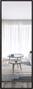 "MIRRORTECH Wall Mirror Full Length, Door Mirror Rectangle Full Body Mirror with Thickened Aluminum Alloy Frame Door Hanging Mirror - 47"" x 16"", Black"