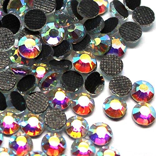 Zbella Crystal Hot Fix Rhinestones 10 Gross (1440 Stones/pkg) Hotfix Rhinestones (ss10, AB Crystal)